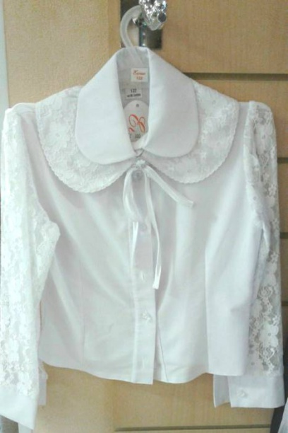 Школьная блузка сажурными рукавами