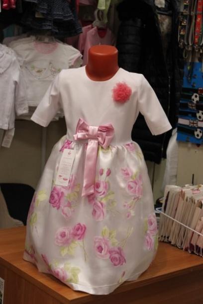 Нарядное платье для девочки «Цветочное»