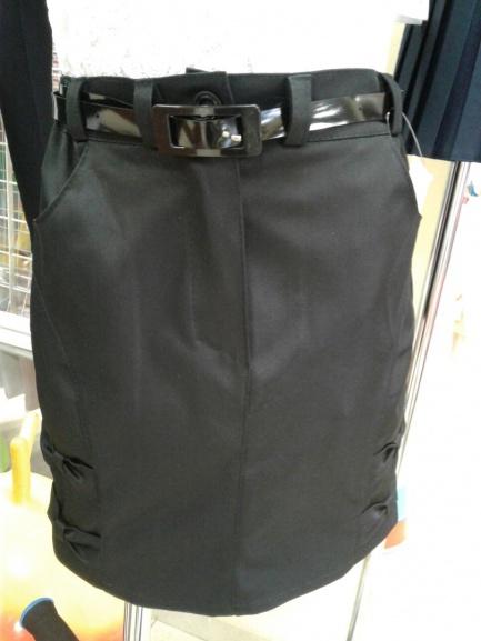 Черная юбка споясом вшколу для девочек «Наоми»