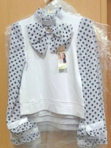 Блузка для девочки вшколу «Мальвина»