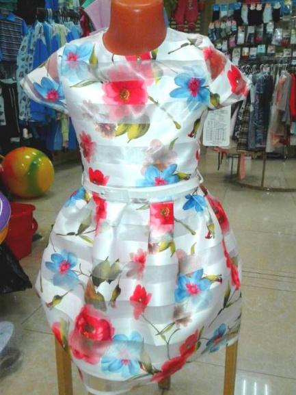 Нарядное детское платье «Летнее утро»