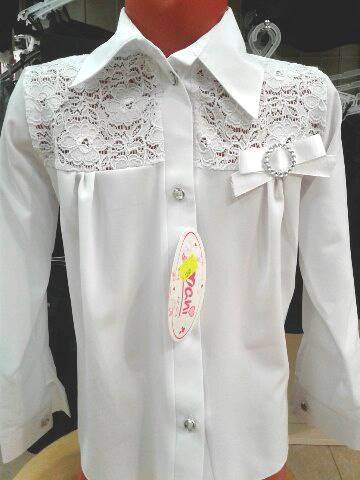Блузка для девочки вшколу «Лилия»