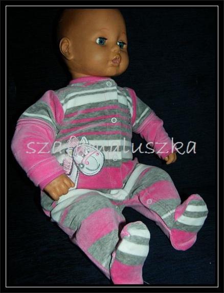 Комбинезон для новорожденных«В полоску» розовый