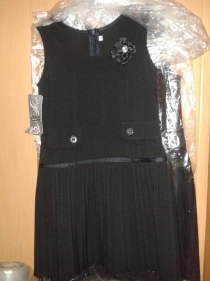 Черный школьный сарафан для девочек