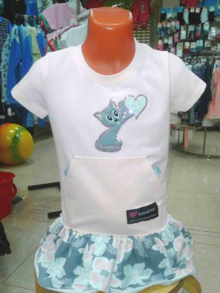 Розовое платье для девочки «Мур»