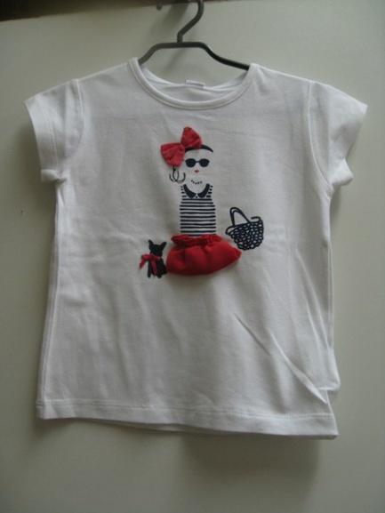 Гламурная белая футболка для девочки