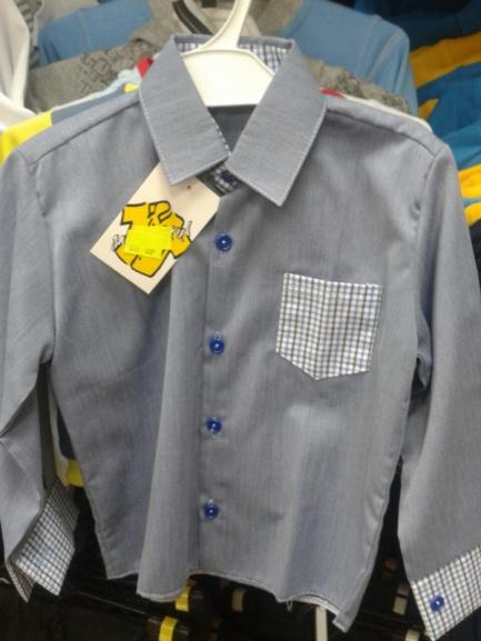 Рубашка для мальчика сманжетами вклетку