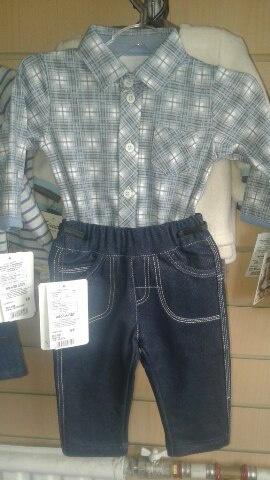 Костюм для мальчика Боди+джинсы