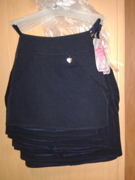 Школьная синяя юбка для девочки