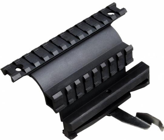 Кронштейн UTG боковой быстросъемный с2-мя планками Weaver (Тигр, Сайга,Вепрь)MNT978