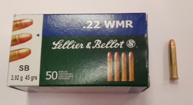 Патрон 22 WMR HS 2,92 гр. (50 шт)