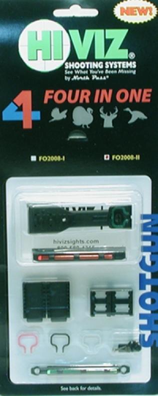 HiViz мушка FO2008-II 4 мушки в1 для планки шир. 7,9-9,7мм.