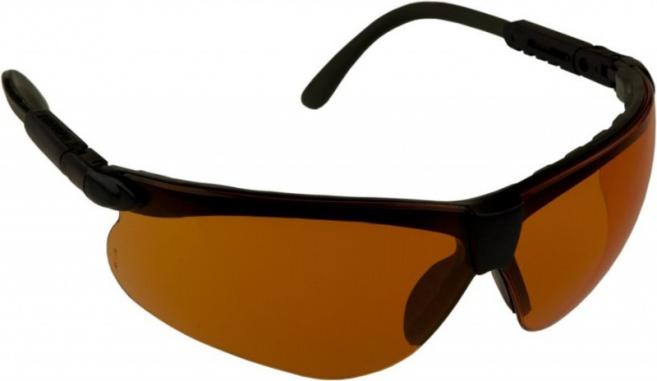 Очки стрелковые Puma оранж. (УФ-защита, класс оптики 1, смен. линзы.)