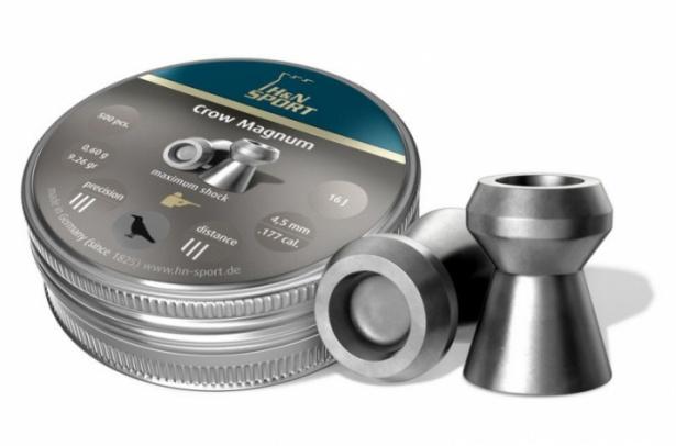Пули для пневматики Н&N Crow Magnum 4,5 мм0,6 грамма (500 шт.)