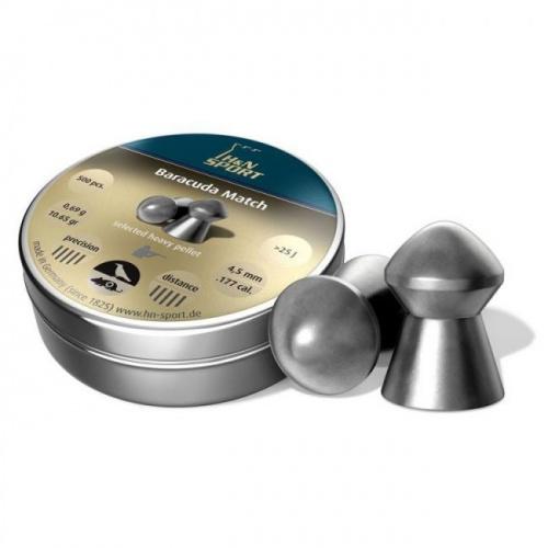 Пули пневматические H&N Baracuda Match 4,52 мм 0,69 грамм (500 шт)