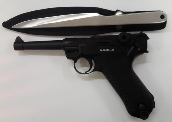 Пневматический пистолет Gletcher Parabellum +ПОДАРОК Нож. метат. City Brother 1103 Corsair