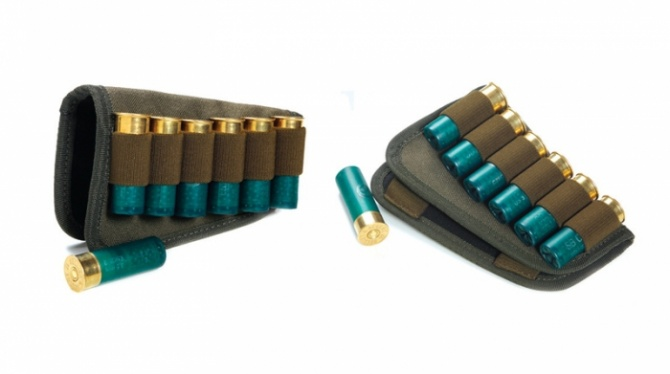П-61 Патронташ на приклад для патронов 12, 16, 20.