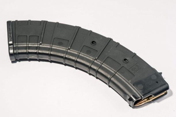 Маг-н Pufgun наВПО-133/АКМ/Сайга МК/М (без сухаря) 7,62×39 40п чёрн.
