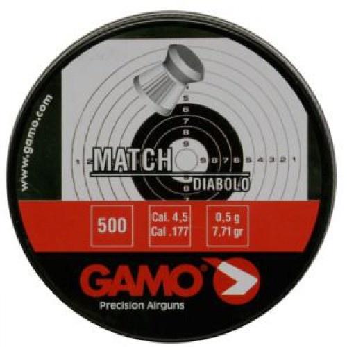 Пули пневматические GAMO Match 4,5 мм 0,49 грамма (500 шт.)