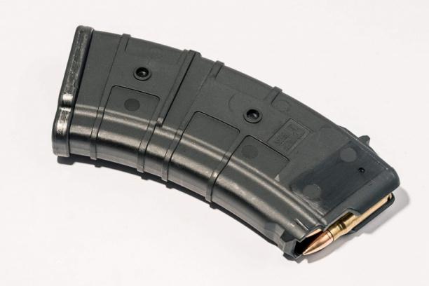 Маг-н Pufgun наВПО-136/АКМ/Сайга 7,62×39 (с сухарём)20п чёрн.