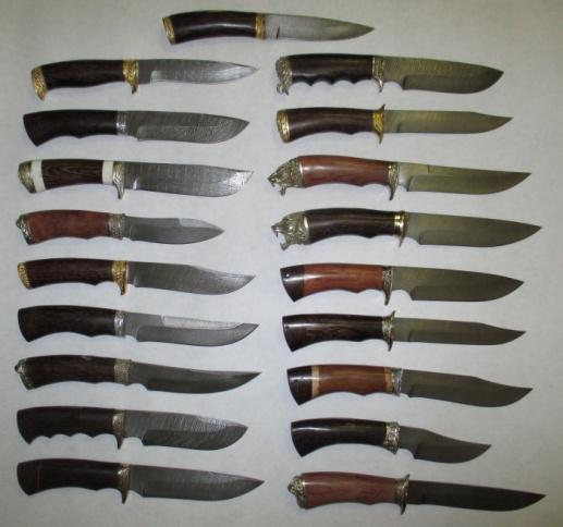 Ножи из Дамасской стали (кованые)