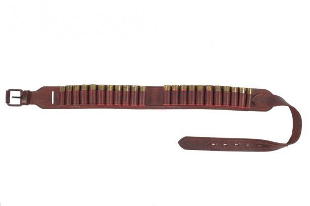 Патронташ откр. 25 лет 22 п. 12 кал. М-1150 мм. кожа