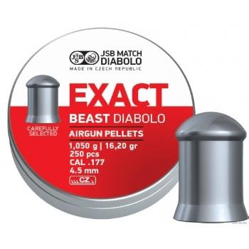 Пули для пневматики JSB Exact beast diabolo 1,05 грамма (250 шт.)