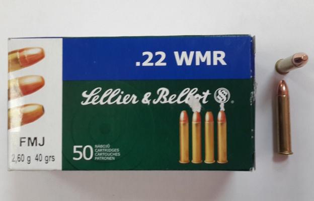 Патрон .22WMR FMJ 2,6 гр. SB(50 шт)