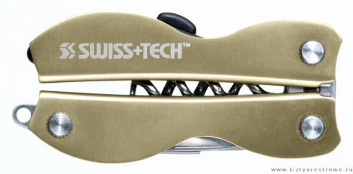 Мультиинструмент Swiss Tech Vintage Corkscrew, 8 инстр. зол.