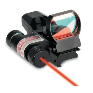 Коллиматор Sightmark панорам. с лазерн. целеуказ. крепл. на Weaver