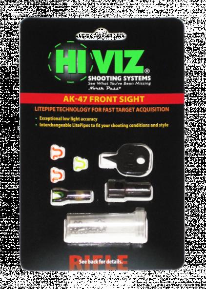 HiViz мушка для AK (сайга,тигр,вепрь) в компл. 2 зел. и 2 крас.