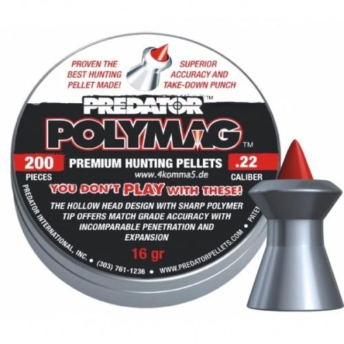 Пули для пневматики PREDATOR POLYMAG 4,5мм 8 гран (200 шт.)