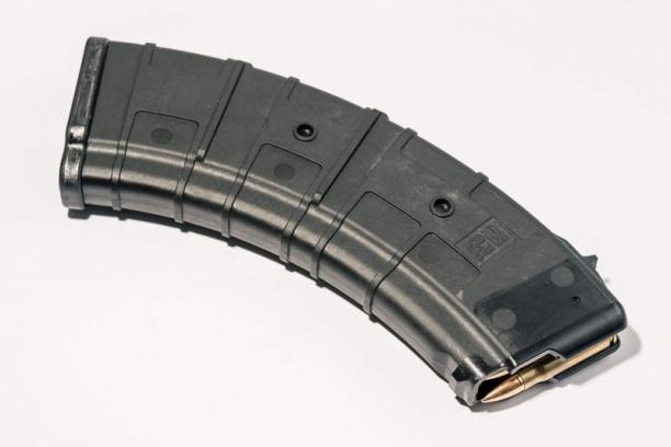 Маг-н Pufgun наВПО-136/АКМ/Сайга 7,62×39 (с сухарём)30п чёрн.