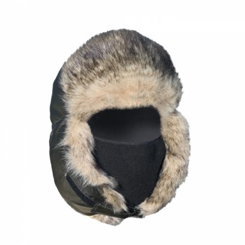 С 030-1 Шапка-ушанка комбинир. волк