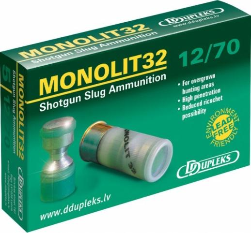 Патрон DDupleks c пулей Monolit (12/70 32 гр.)