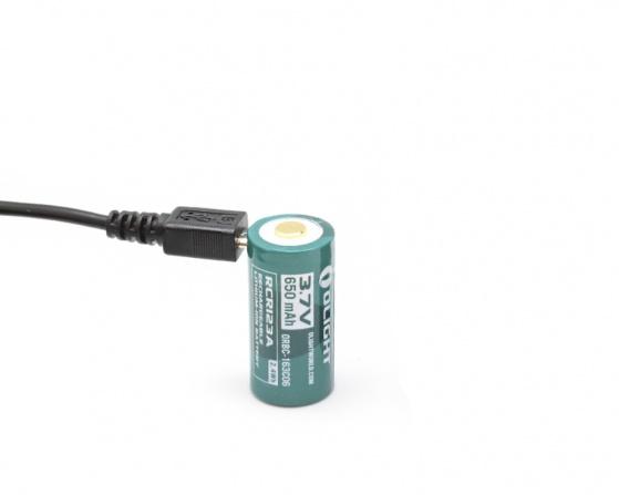 Аккумулятор Olight 16340 3,7B 650 mah сUSB портом