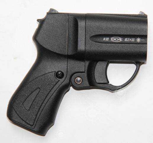 Пистолет М-09 красный ЛЦУ 18,5×55