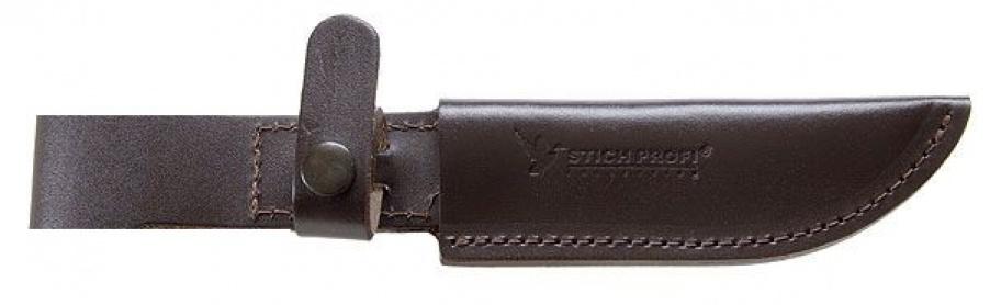 3714 Ножны модель № 10 ножи Лосиный, Туристический ДП (с кнопкой) 135мм 36мм