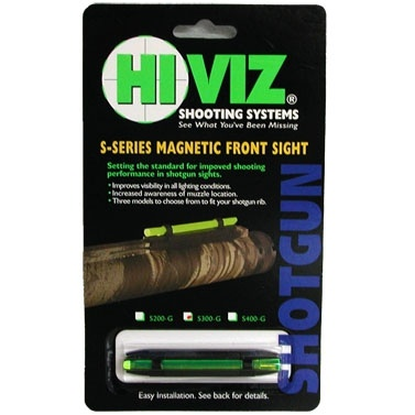 HiViz мушка S400-G зеленая широкая 8,2-11,3мм.