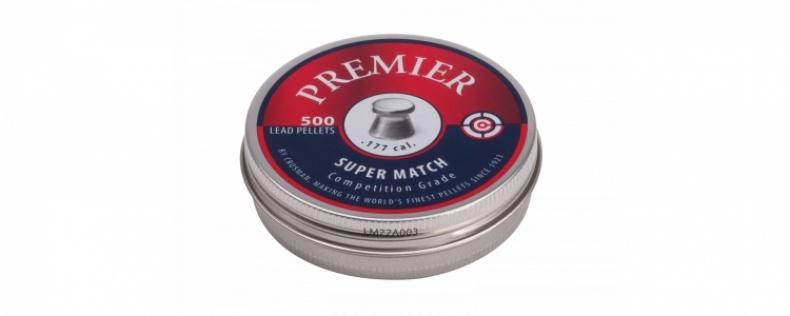 Пули пневматические Crosman Premier Super Match, 4,5 мм., 7,9 гран (500 шт.)
