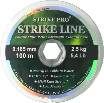 Леска Strike Pro Strike Line 100 м в асс.