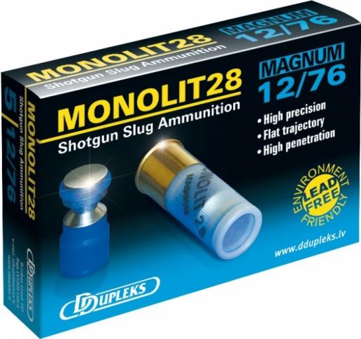 Патрон DDupleks c пулей Monolit (12/76 28 гр.)