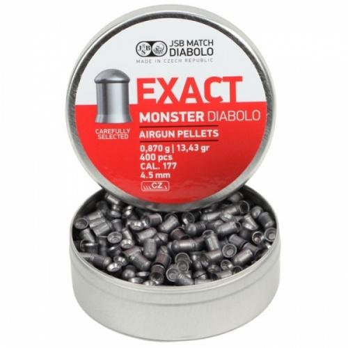 Пули для пневматики EXACT Monster Diabolo 4,5 мм0,87 грамма (400 шт.)