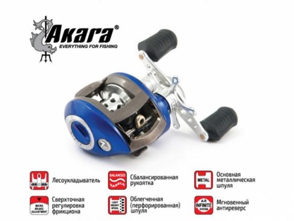 Мультипликаторная катушка Akara Sigeria SR6+1 кастинг+смазка