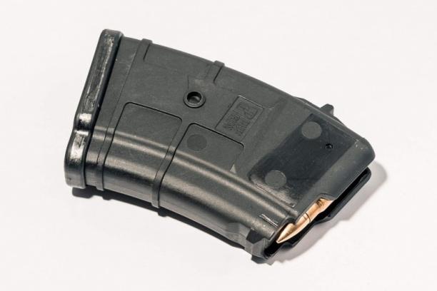 Маг-н Pufgun наВПО-136/АКМ/Сайга 7,62×39 (с сухарём)10п чёрн.
