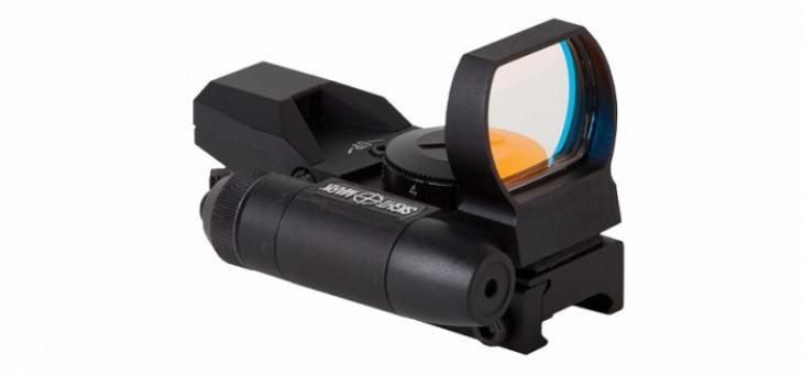 Коллиматор Sightmark панорам. с лазерн. целеуказ. крепл. на 11 мм