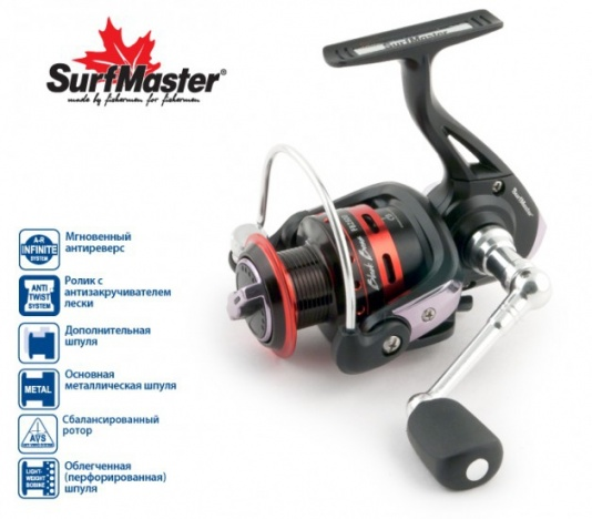 Катушка Surf Master Black Bass FB1500A 5+1bb з/ш