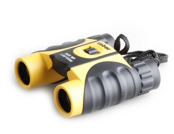 Бинокль Veber 8x25 WP черный-желтый