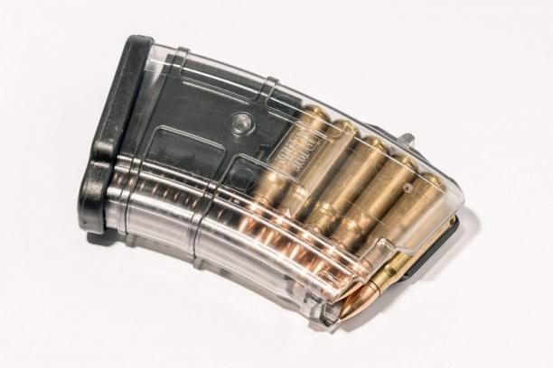 Маг-н Pufgun наВПО-136/АКМ/Сайга 7,62×39 (с сухарём)10п прозр.
