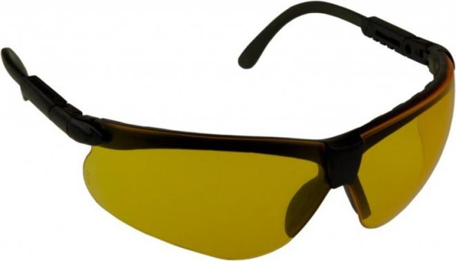 Очки стрелковые Puma желтые (УФ-защита, класс оптики 1, смен. линзы.)